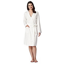 Lounge & Sleep - Cream spotted dressing gown