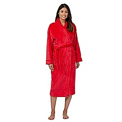 Lounge & Sleep - Red fleece dressing gown