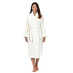 Lounge & Sleep - Cream fleece dressing gown