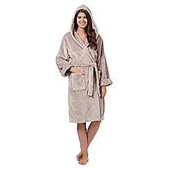 J by Jasper Conran - Natural luxury hooded dressing gown