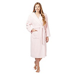 J by Jasper Conran - Pale pink fleece dressing gown