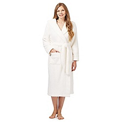 J by Jasper Conran - Cream fleece dressing gown