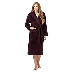J by Jasper Conran - Dark purple fleece dressing gown