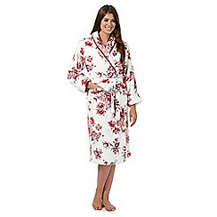 Presence - White floral print dressing gown