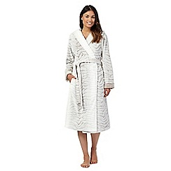 Lounge & Sleep - Natural fleece dressing gown
