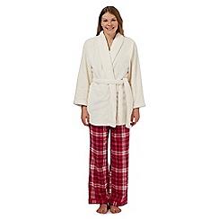 RJR.John Rocha - Cream short waffle robe