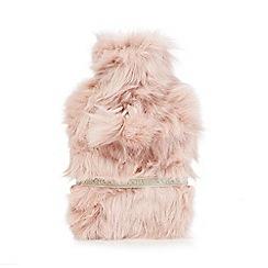 RJR.John Rocha - Light pink faux fur hot water bottle