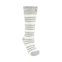 Lounge & Sleep - Cream chunky ribbed socks