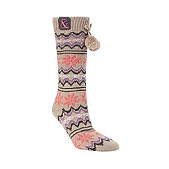 Iris & Edie - Grey knitted slipper socks