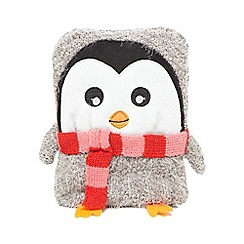 Lounge & Sleep - Grey penguin hot water bottle