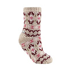 RJR.John Rocha - Pink knitted slipper socks