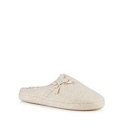 Lounge & Sleep - Natural bow mule slippers