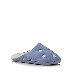 Lounge & Sleep - Lilac embroidered cloud mule slippers