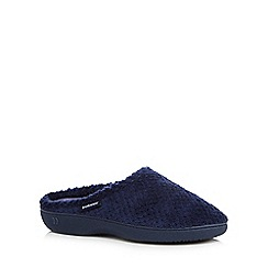 Isotoner - Navy 'Popcorn' mule slippers
