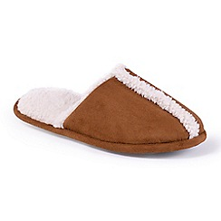 Totes - Tan mule slippers