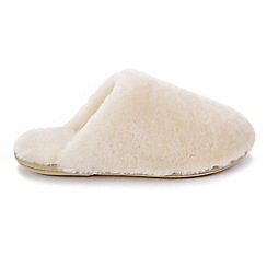 Just Sheepskin - Natural 'Wooly' mule slippers