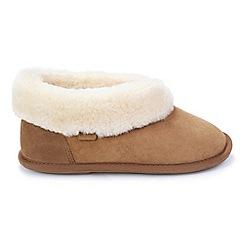 Just Sheepskin - Tan slipper boots