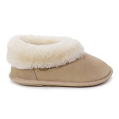 Just Sheepskin - Beige slipper boots
