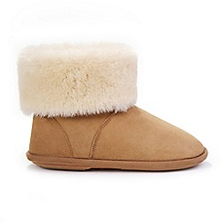 Just Sheepskin - Tan 'Albery' slipper boots
