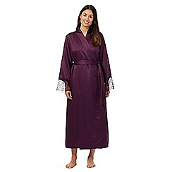 J by Jasper Conran - Purple satin wrap dressing gown