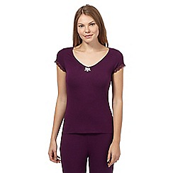 J by Jasper Conran - Purple lace pyjama top