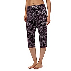 J by Jasper Conran - Purple spot crop pyjama bottoms