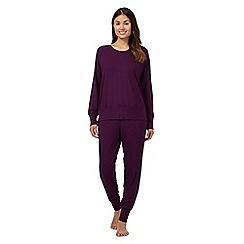 J by Jasper Conran - Purple sweatshirt and bottoms set