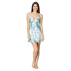 Presence - Light blue floral chemise