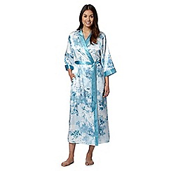 Presence - Light blue floral satin long wrap