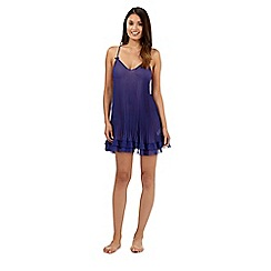 Presence - Dark blue pleated chemise