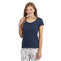 Mantaray - Navy short sleeved pyjama top