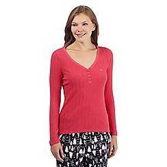 Mantaray - Red ribbed pyjama top