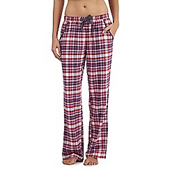 Mantaray - Purple checked pyjama bottoms