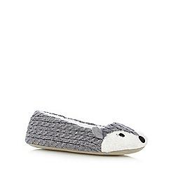 Lounge & Sleep - Grey fox ballet slippers