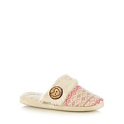 Lounge & Sleep - Multi knitted mule slippers