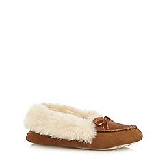 RJR.John Rocha - Tan suede moccasin slippers
