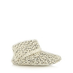 RJR.John Rocha - Cream boucle sequinned slipper boots