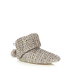 RJR.John Rocha - Purple sequin knit slipper boots