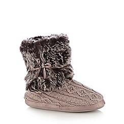 RJR.John Rocha - Natural aspen slipper boots