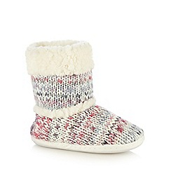 Mantaray - Multi space dye knitted slipper boots