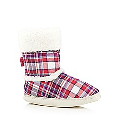 Mantaray - Red checked slipper boots