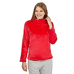 Lounge & Sleep - Red cowl neck pyjama top