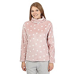 Lounge & Sleep - Pink cowl neck pyjama top