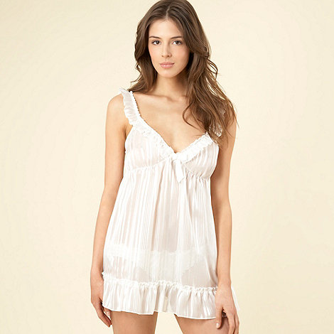 Presence - Ivory ruffled babydoll and briefs set