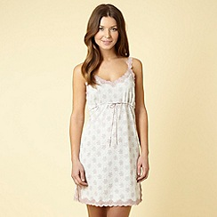 Presence - Cream floral jersey chemise