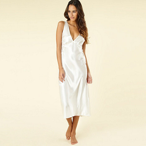 Presence - Ivory long satin nightdress