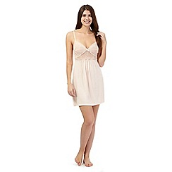 J by Jasper Conran - Peach marl lace insert chemise