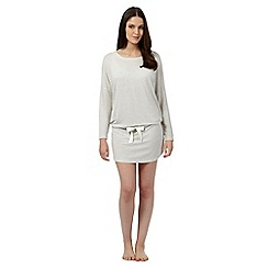 J by Jasper Conran - Light grey drop waist shirt