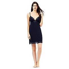 J by Jasper Conran - Navy lace up chemise