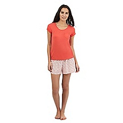 J by Jasper Conran - Orange print top and shorts set